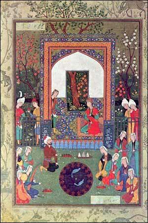 Tabriz school miniature, from: Pandj Gandj, poet: Amir Khosrow Dehlavi