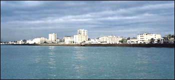 منظره بندرعباس از دریا